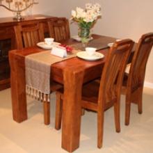 A+ 长餐台+4个餐椅