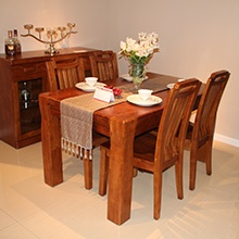 A家木色天香实木长餐台