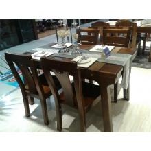 宜华实木家具一桌四椅