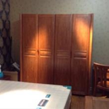 沃森家具四门衣柜 橡胶木
