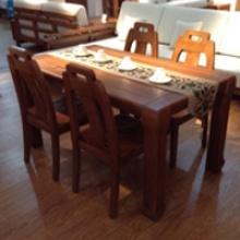 沃森家具一桌四椅 橡胶木
