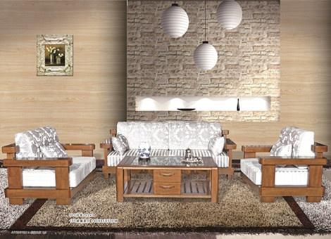 001沙发四件套组合(1+2+3+茶几)