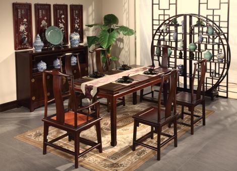 皇朝傢俬 实木系列 一桌四椅