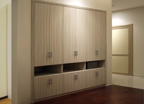 木纹板木框白玻木框依雅板+柜体(实木颗粒板柜体)