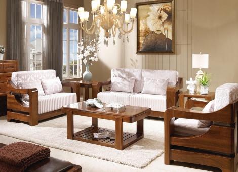 雷罗纳实木家具1+2+3+茶几+电视柜