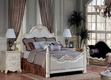新巴洛克ACP-18022双人实木床 高贵 简洁
