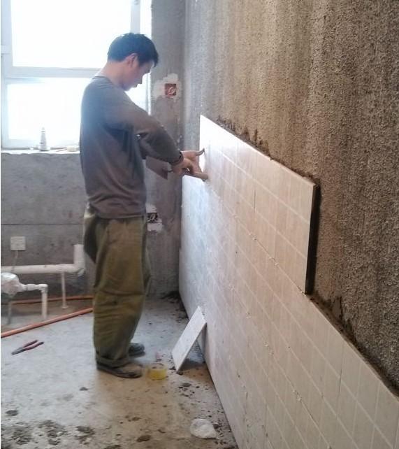 小窝装修日记5——厨房贴砖,卫生间包管防水等等